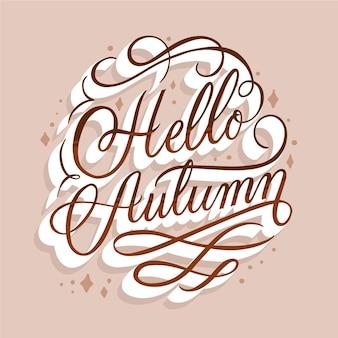 Bonjour lettrage de message d'automne