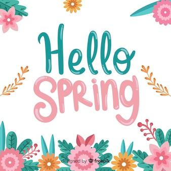 Bonjour lettrage de printemps