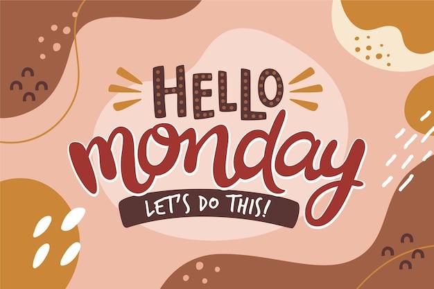 Bonjour lundi, faisons ce fond