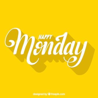 Bonjour lundi, lettres avec des ombres