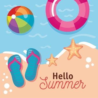 Bonjour message d'été