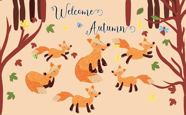 Bonjour modèle d'automne