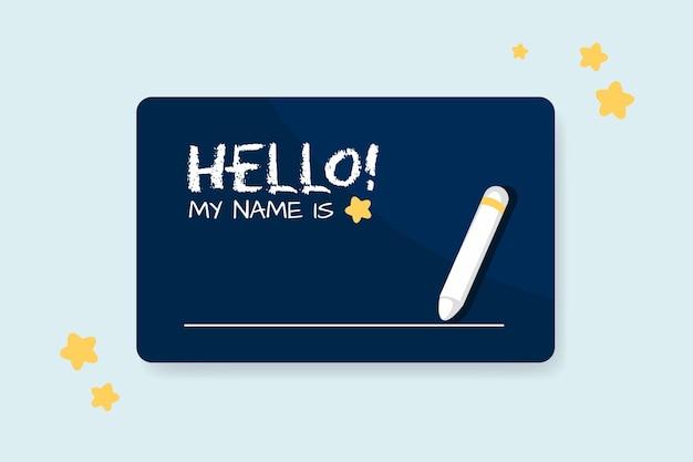 Bonjour mon nom est le concept d'étiquette