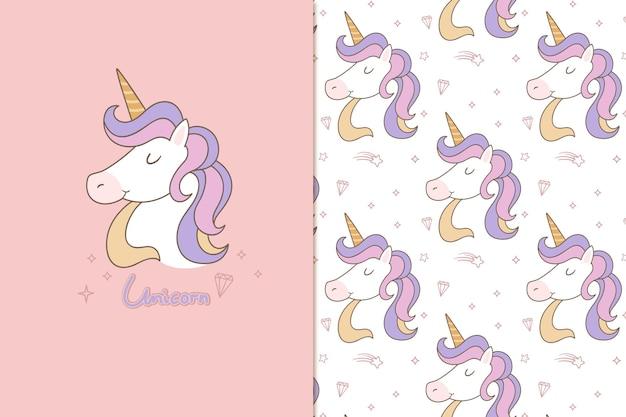 Bonjour motif licorne