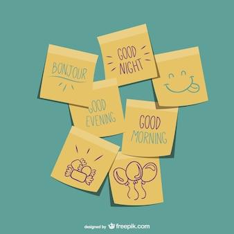 Bonjour notes autocollantes