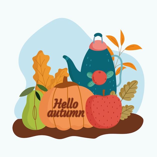 Bonjour la nourriture d'automne