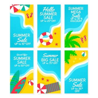 Bonjour pack d'été instagram story sale