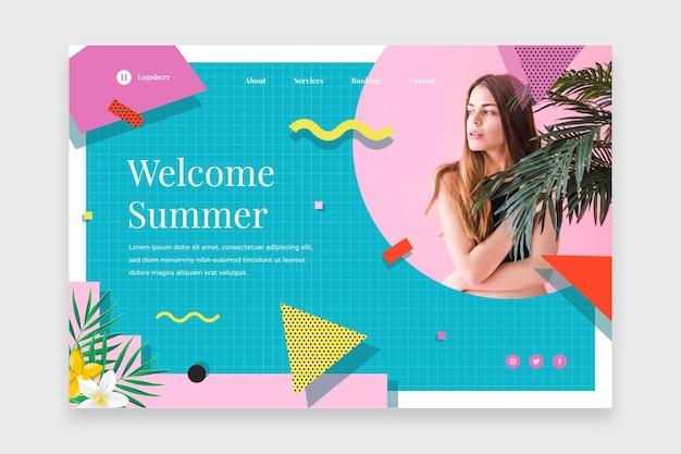 Bonjour la page de destination de l'été