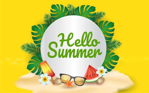 Bonjour papercut d'été