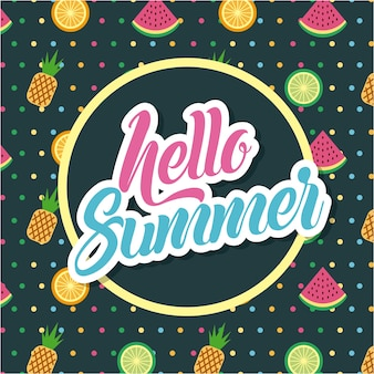 Bonjour plat d'été
