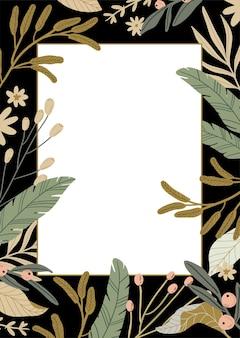 Bonjour printemps. ensemble botanique avec éléments de jardin dessinés à la main, bordures, fleurs, feuilles, lettrage romantique