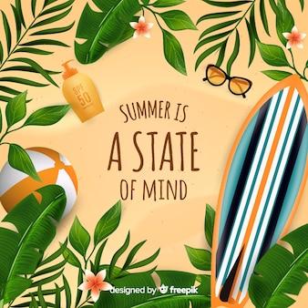 Bonjour réaliste fond d'été