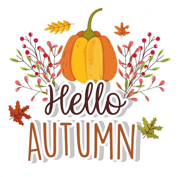 Bonjour la saison d'automne