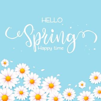 Bonjour salut de printemps