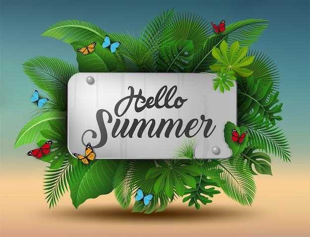 Bonjour signe de l'été