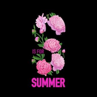 Bonjour summer design floral fleurs de pivoine