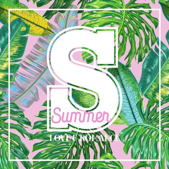 Bonjour summer tropical design