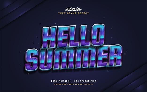 Bonjour texte d'été dans un style rétro coloré