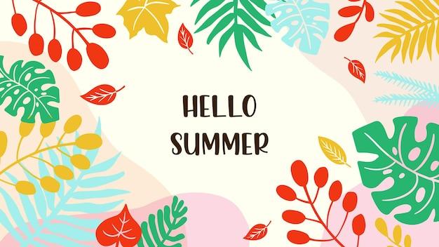Bonjour vecteur d'été