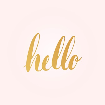 Bonjour vecteur de style typographie voeux