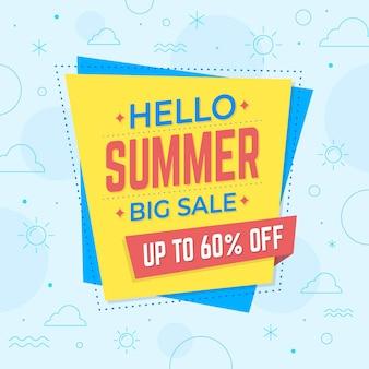 Bonjour vente d'été avec offre