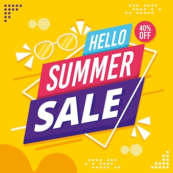 Bonjour vente d'été