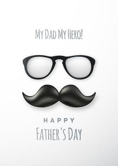 Bonne affiche de voeux pour la fête des pères