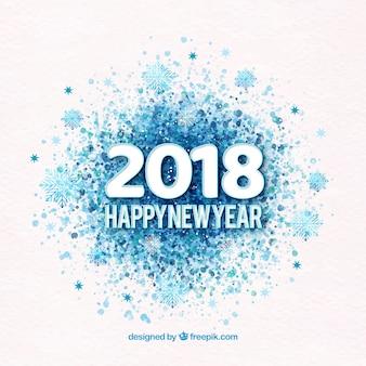 Bonne année 2018 à l'aquarelle