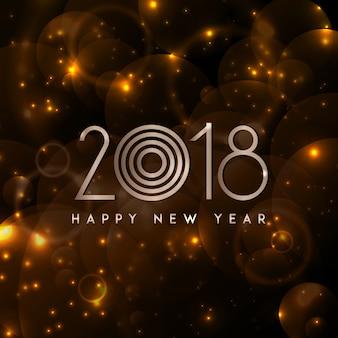 Bonne année 2018 élégant fond royal avec effet golden bars