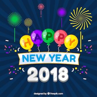 Bonne année 2018 fête
