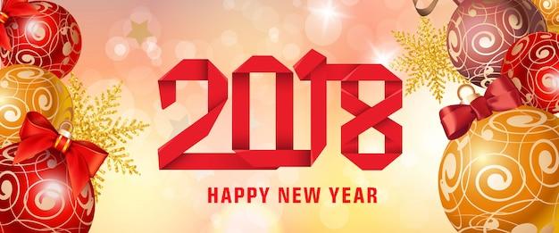Bonne année 2018 papier lettrage