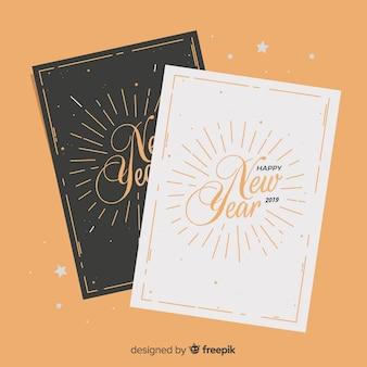 Bonne année 2019 cartes de vœux