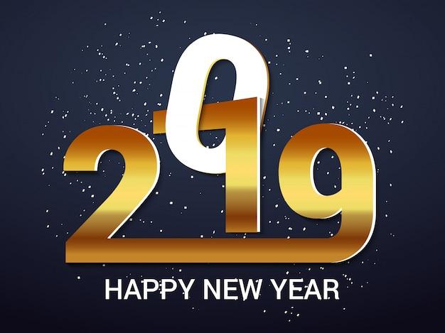 Bonne année 2019 design
