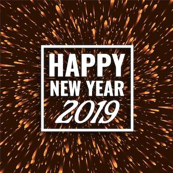 Bonne année 2019 fond de voeux élégant
