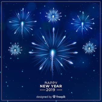 Bonne année 2019 fond