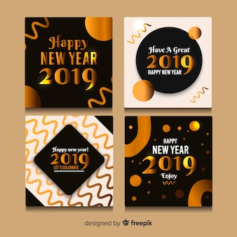 Bonne année 2019 jeu de cartes