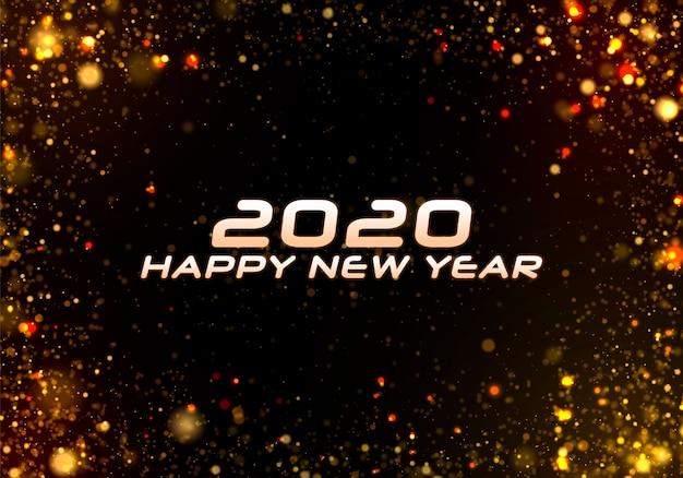 Bonne année 2020. bokeh scintille noël.