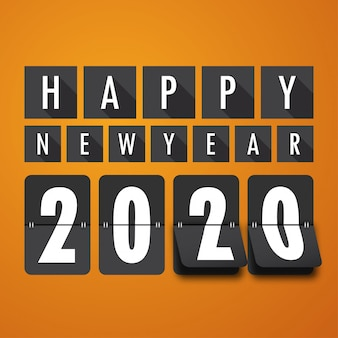 Bonne année 2020. carte de voeux.