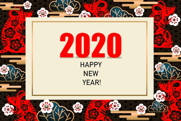 Bonne année 2020 carte