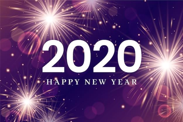 Bonne année 2020 feux d'artifice