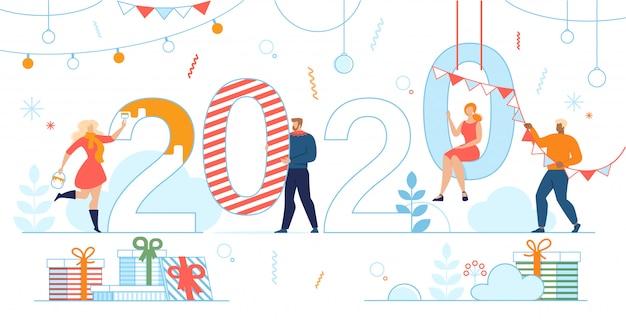 Bonne année 2020 fond