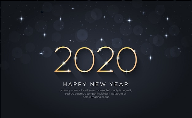 Bonne année 2020. vacances