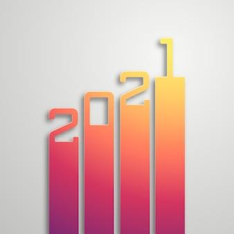 Bonne année 2021. beaux numéros de dégradé.