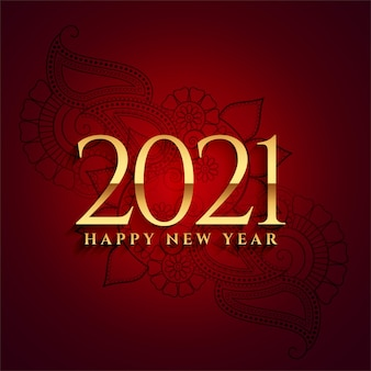 Bonne année 2021 conception de célébration de fond doré