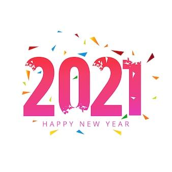 Bonne année 2021 fond de célébration de vacances