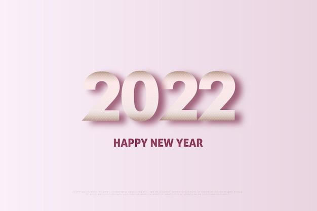Bonne année 2022 chiffres roses avec un petit effet de lumière