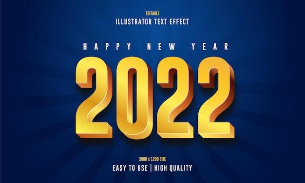 Bonne année 2022 effet de texte 3d