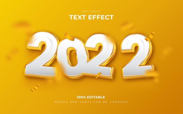 Bonne année 2022 effets de texte modifiables en 3d