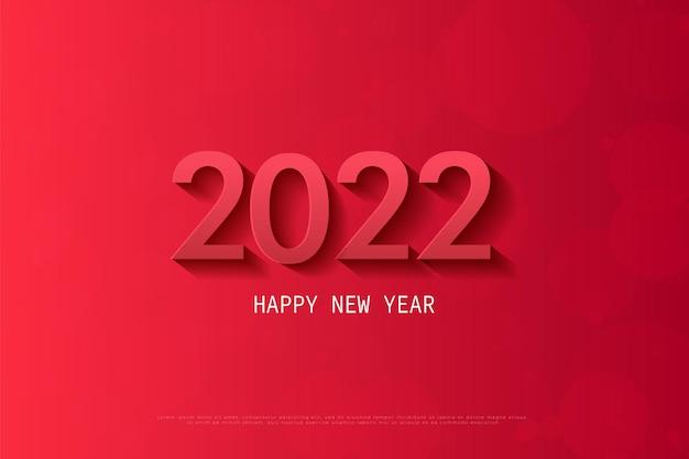 Bonne année 2022 avec une ombre transparente et sombre
