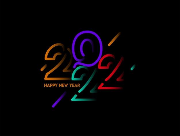 Bonne année 2022 text typography design patter, illustration vectorielle.